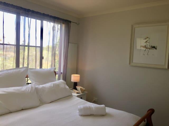 Main bedroom overlooking the valley