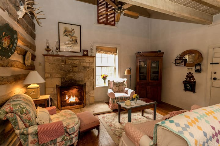 The Log Cabin I Fireplace | Views and Wildlife