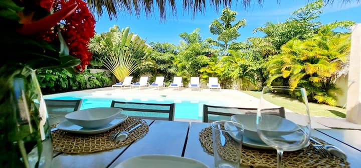 Magnificent Caribbean villa / Pool / 200M beach
