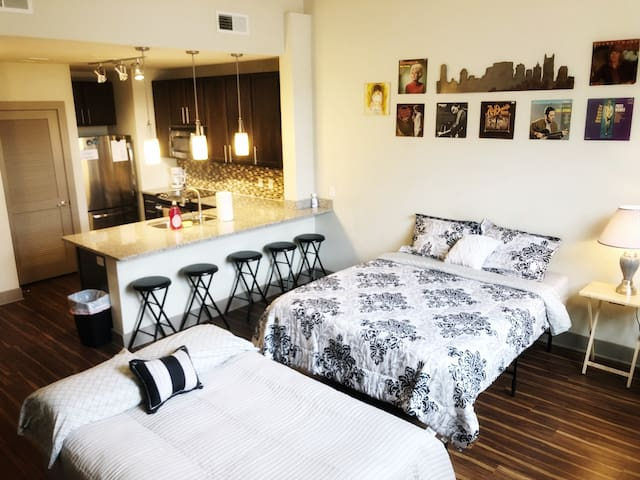 Nash Loft Downtown!FREE PARKING! Sleeps 6!