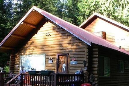 R Place Two ~  Log House Getaway at Mt. Rainier - Ashford