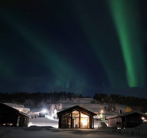 Northern lights can be seen from the cabin two-three times a week