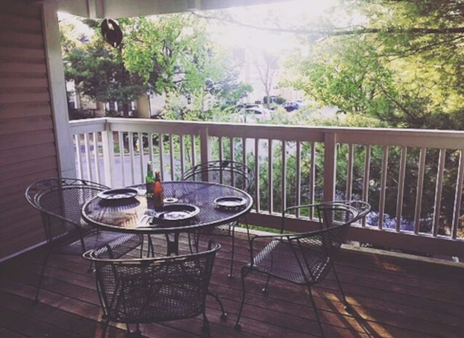 Outside deck