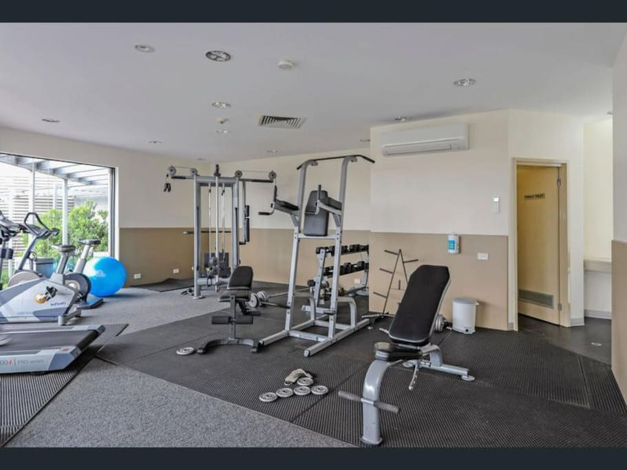 Gym on the same floor of the building
