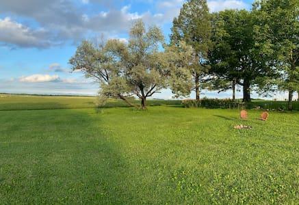 Gardner Family Farm and Iowa Hemp Farm Stay Tent 1