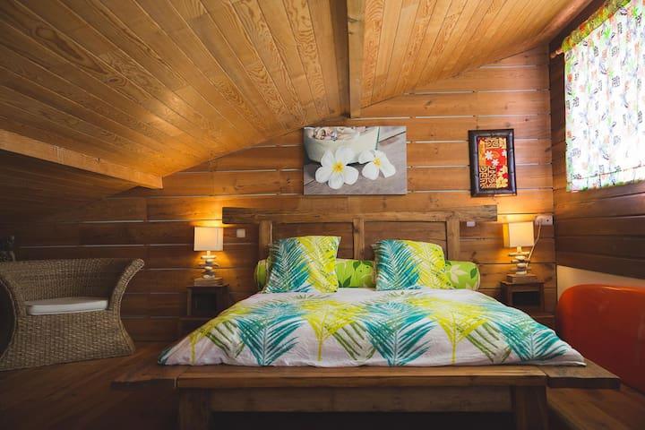 Chambre 2 à l'étage avec vu sur la dune