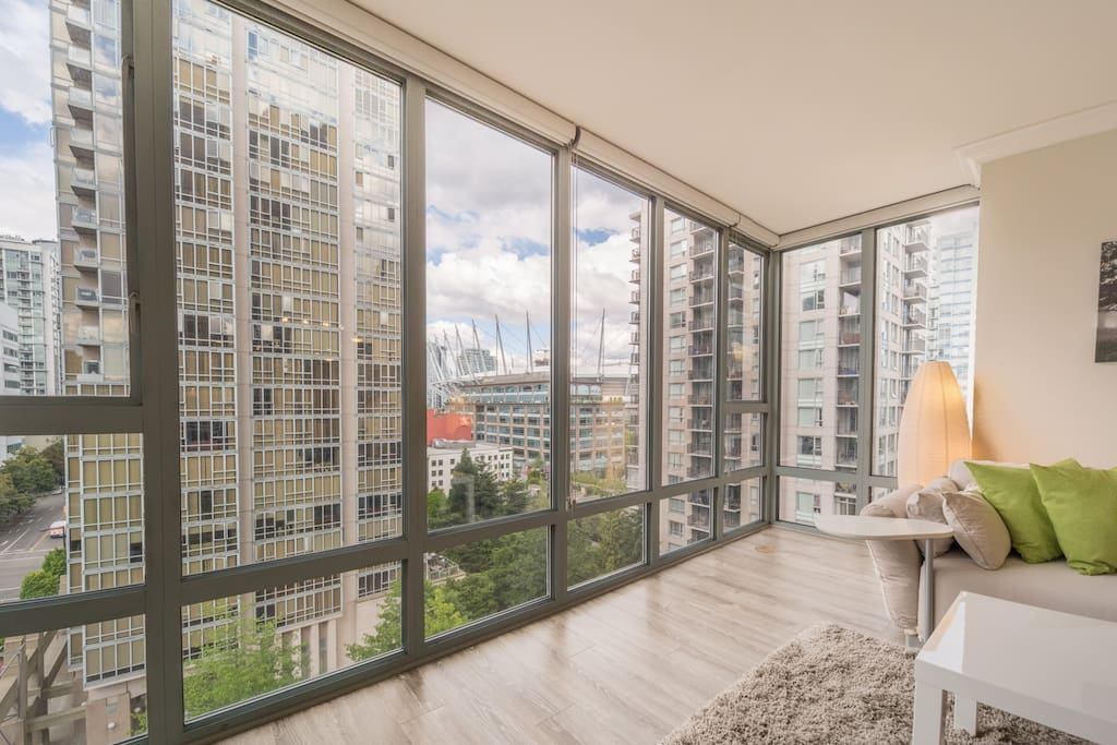 Sweeping views of Downtown Vancouver