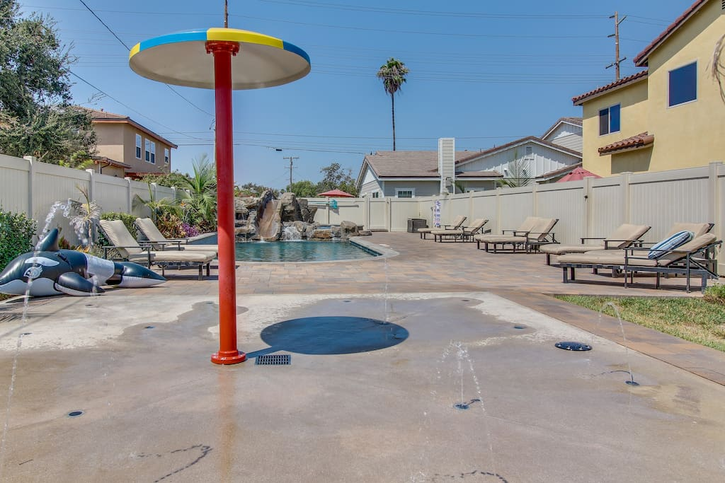 A splash pad for water fun!!