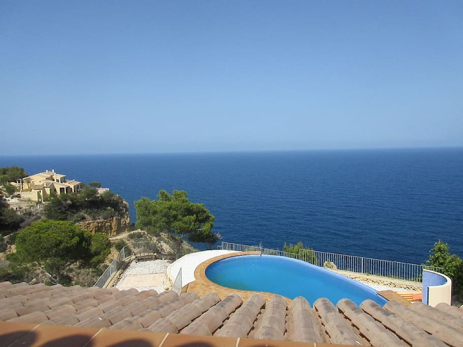 Roof top views of Mediterranean Ocean