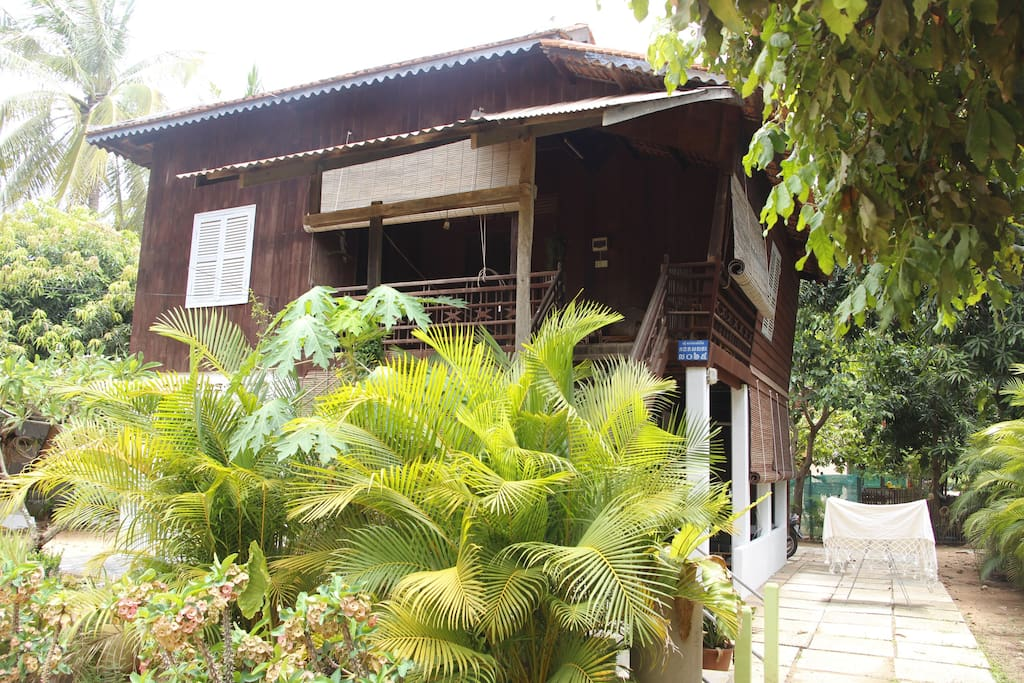 Traditional wooden Khmer house