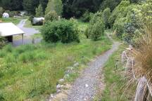 A short meander down the hill to the shower and toilet block