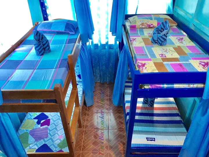 Bed in Air-conditioned Dormitory room