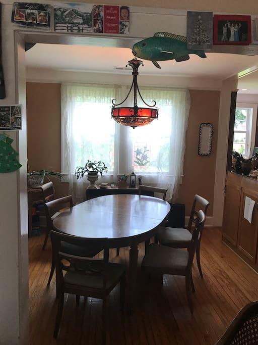 Dining Room gets wonderful morning light