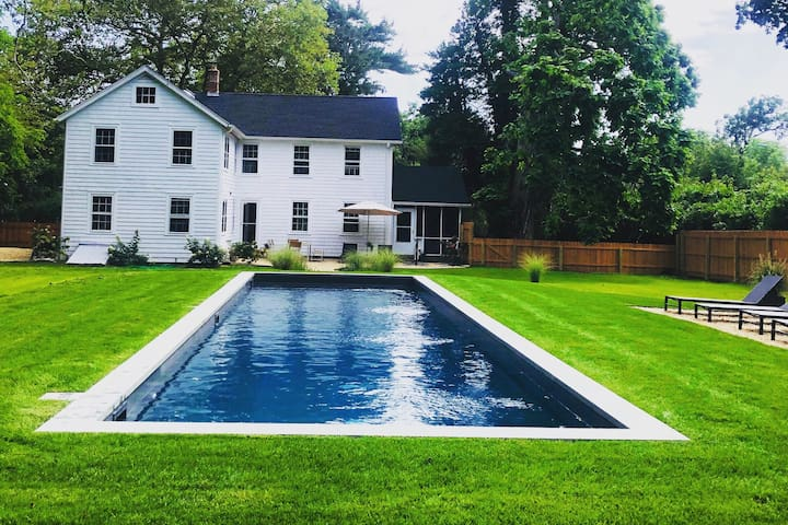 Newly Restored Bellport Farmhouse w/ Heated Pool