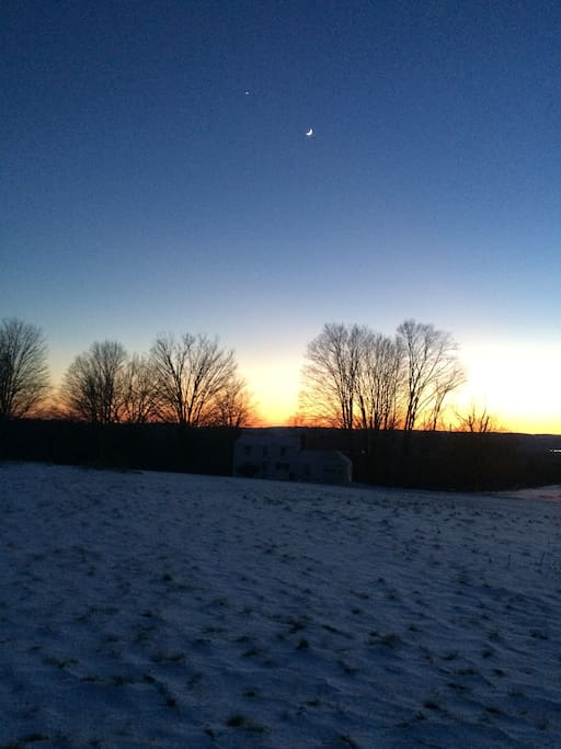 From the backyard, at twilight