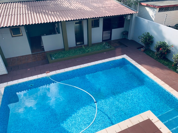 Well located villa with pool and gym