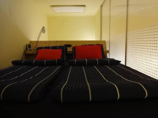 Bedroom upstairs (loft)