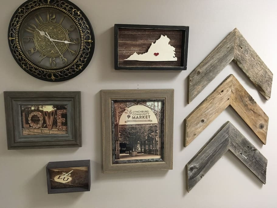 Gallery Wall featuring a Lynchburg-inspired theme!