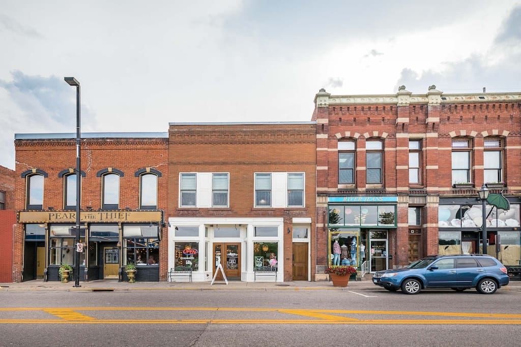Your Airbnb is conveniently located on Main Street in downtown Stillwater