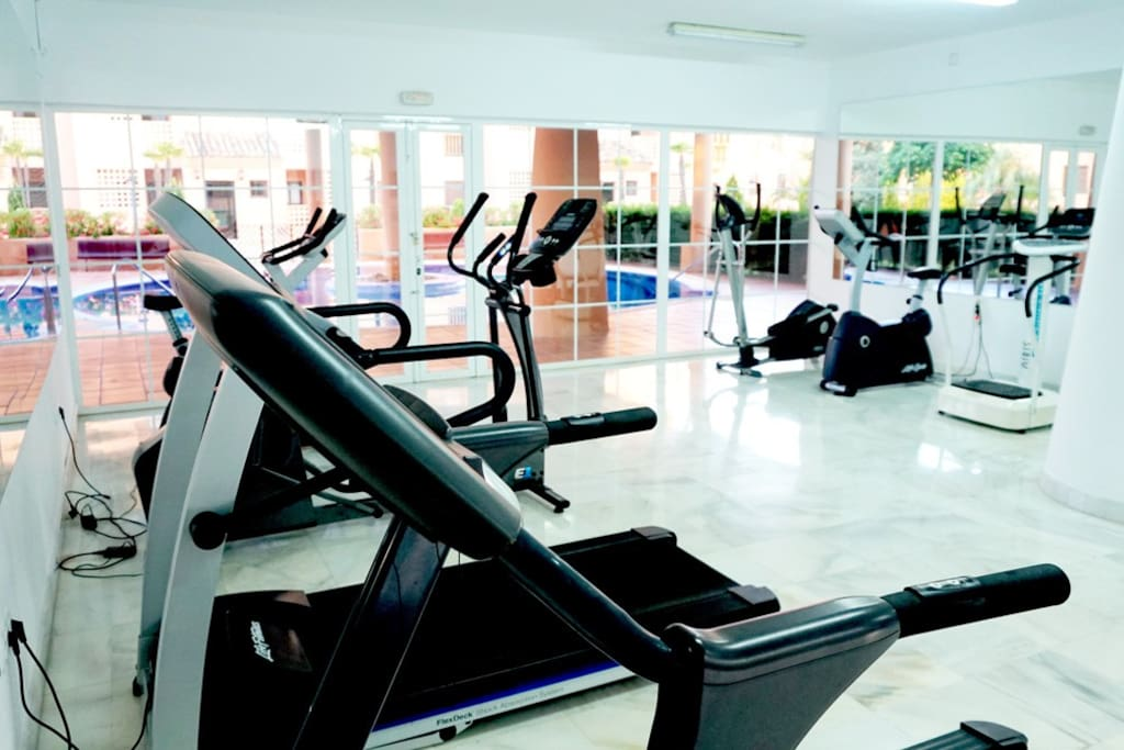 Private Gym and Sauna: On Site Gym with Modern Equipment, Weights and  Sauna