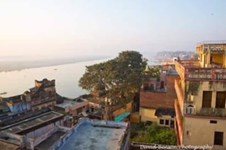 Budget river view room at Ganges