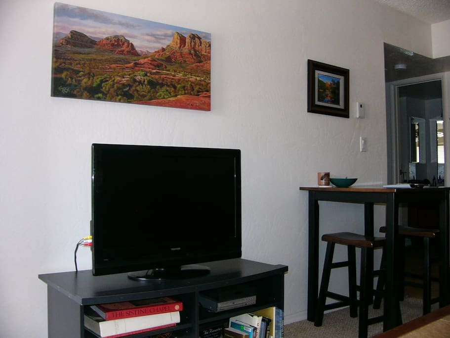 Living Room with Flat Screen HDTV