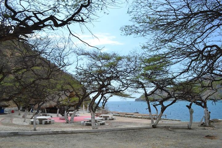 Cabañas en Playaca Beach