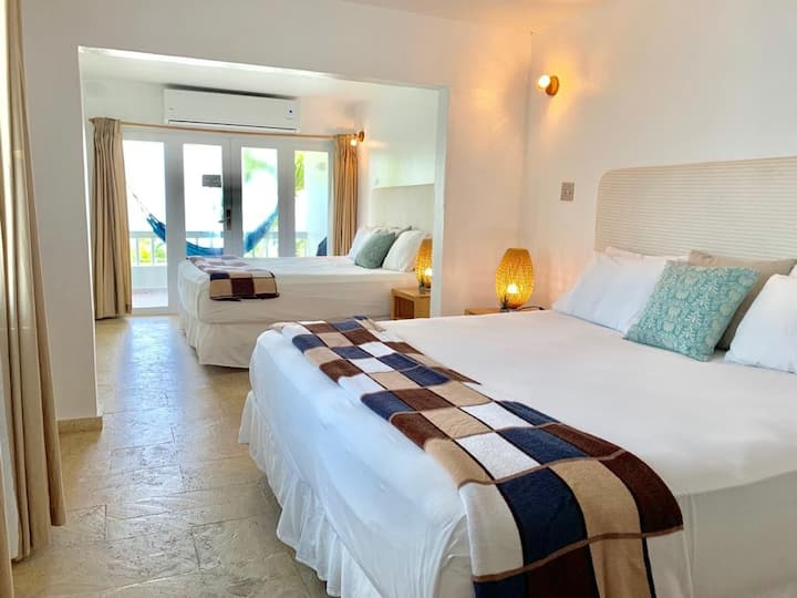 Spacious Double King Bed Suite Private Balcony
