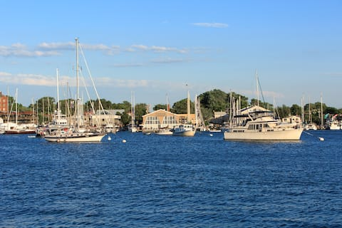 Home located one mile from Downtown Annapolis in quiet Eastport neighborhood.   Image is of Eastport waterfront.