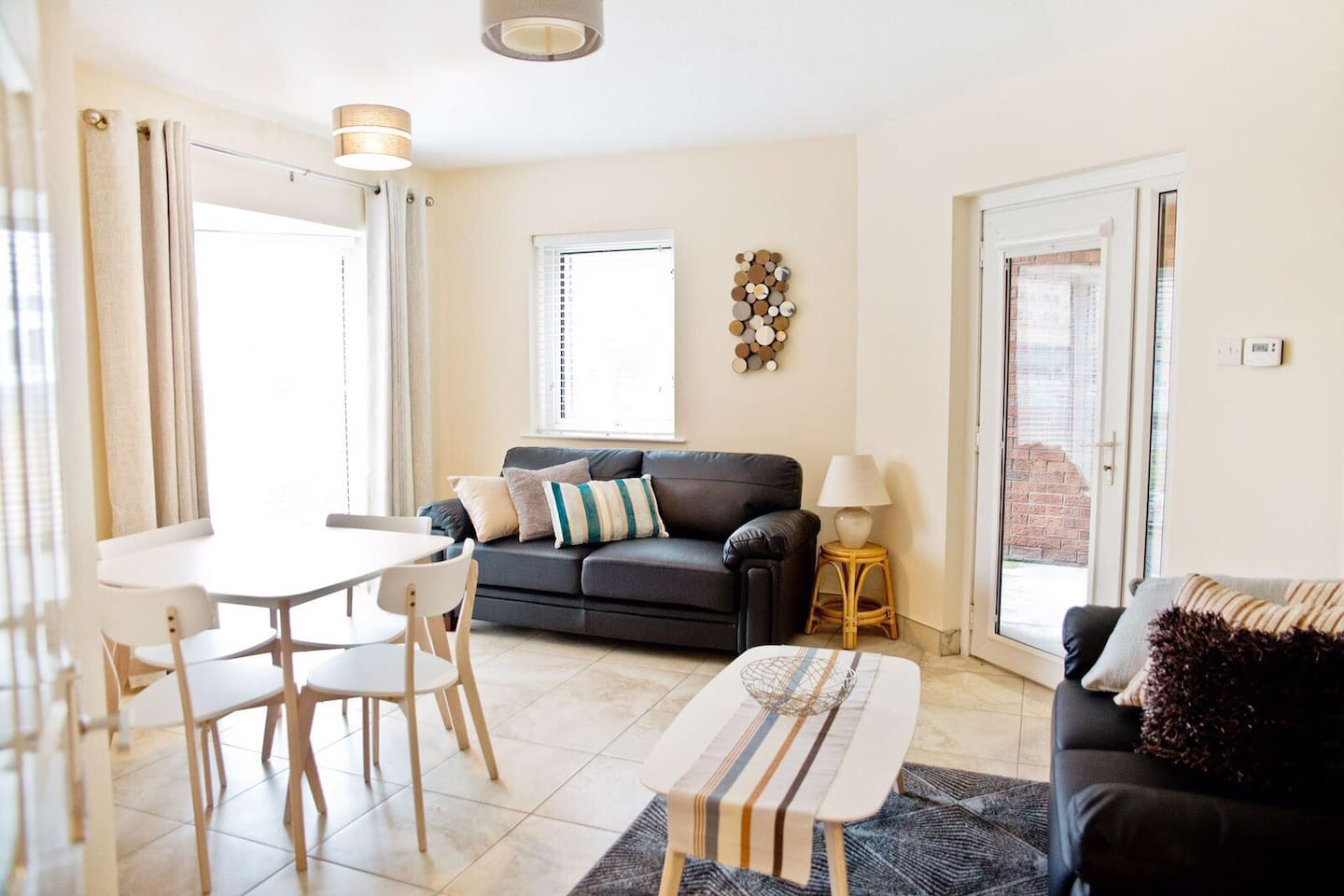 Enjoy views of the river Lagan from the living room and balcony