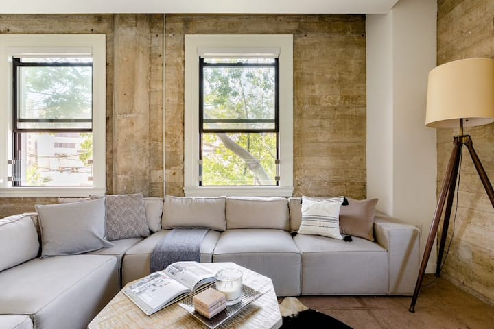 Updated Loft in Classic 1920s Building with Views