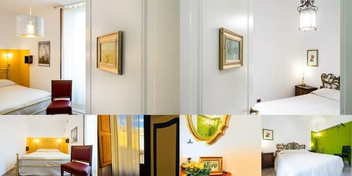 Quadruple Suite, 2 rooms, 2 balconies. Lemon Olive