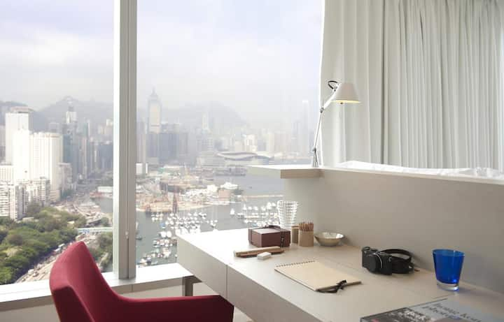 Full-Harbour View Studio in CWB, Hong Kong