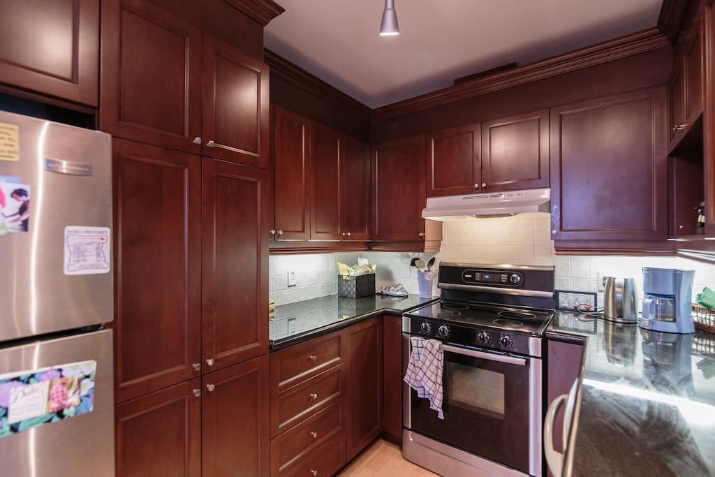 Kitchen includes dishwasher, oven, toaster, and everything else you need to make a great meal!