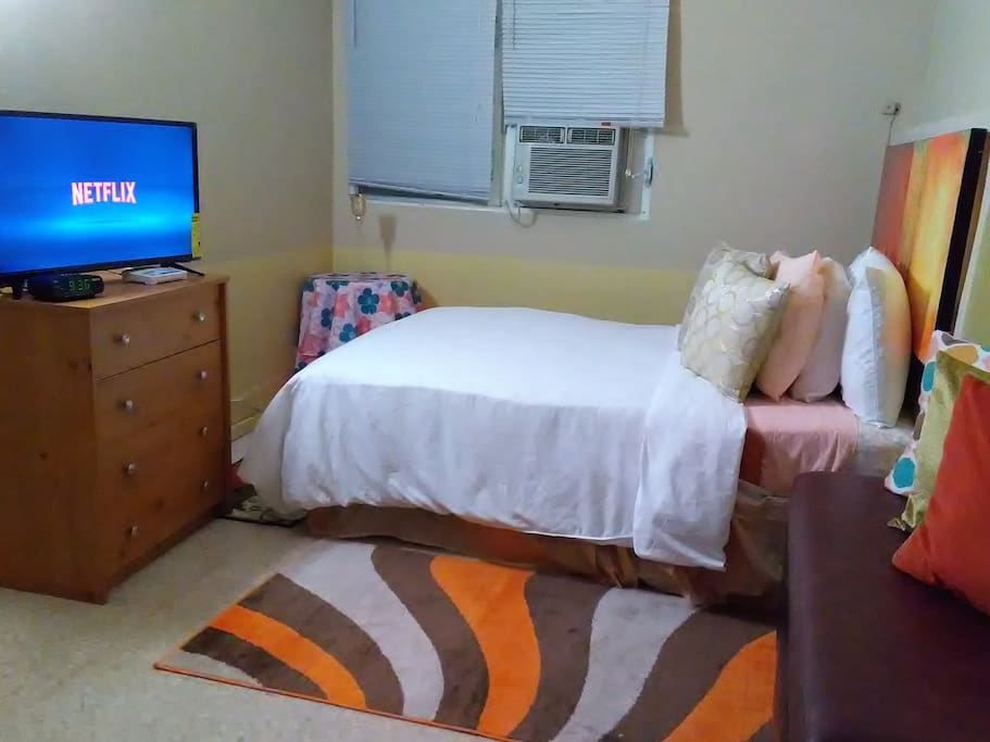 Comfortable and clean apartment, large closet and TV with your favorite channels including Netflix ...