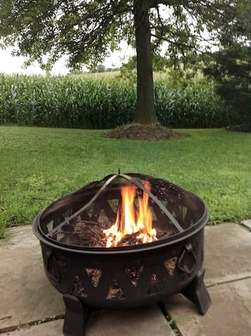 Snuggle up to a crackling fire at dusk - firewood provided!