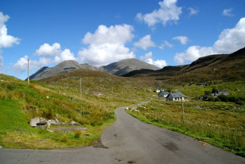 Mountains surround the property and Greenbank shelters in the lee of the majestic Clisham, the highest peak on Harris.