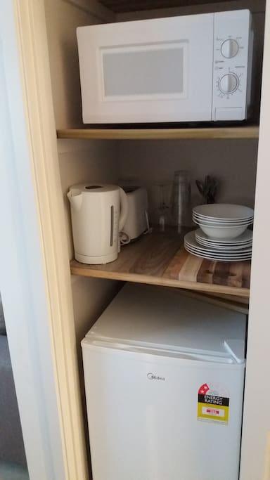 Mini kitchen facilities