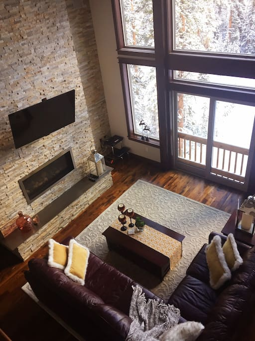 Family area is spacious with open vaulted ceilings