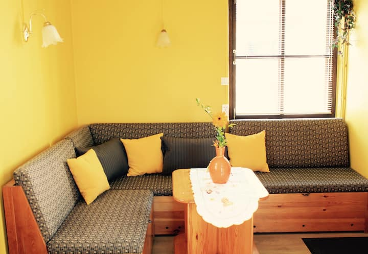Beach side apartment with private garden and BBQ