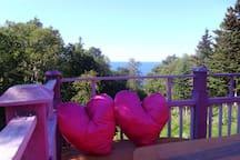 La vue sur le balcon de L'Épilobe!