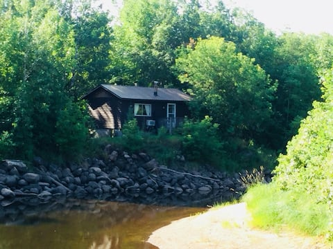 Rustic Cabin Nestled Along the Whitemouth River