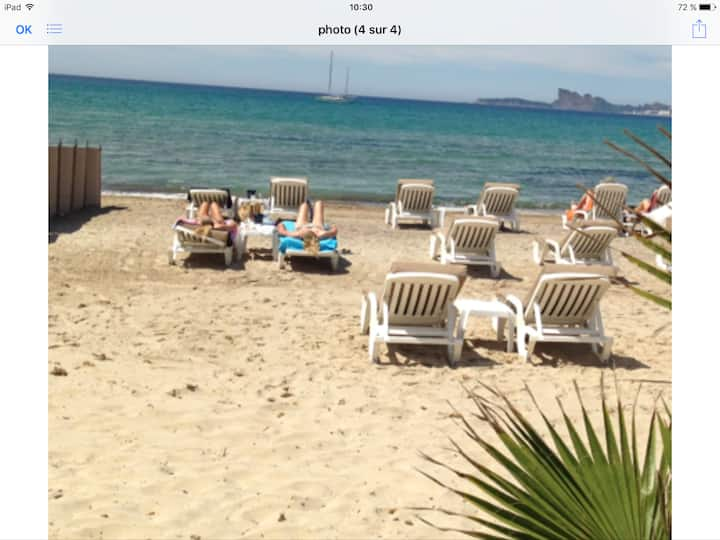 DuplexT3 Vue Mer-Plage à pied - Wifi - La Madrague