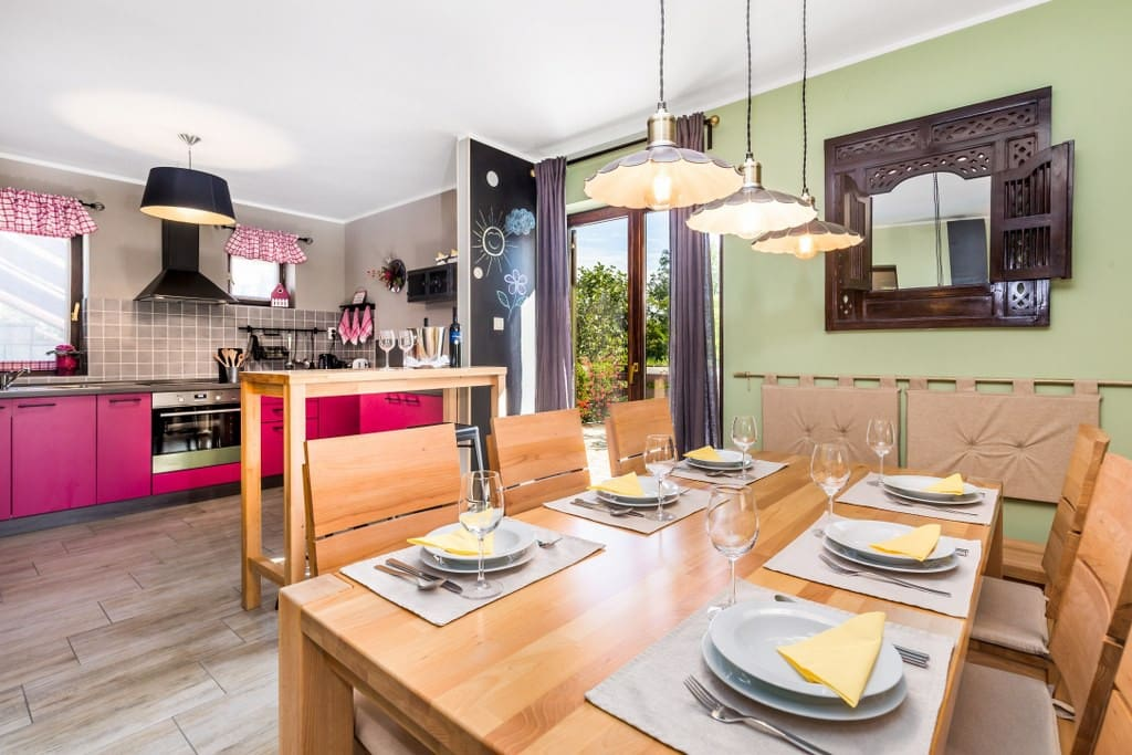 Open space kitchen - dining - living room :-)