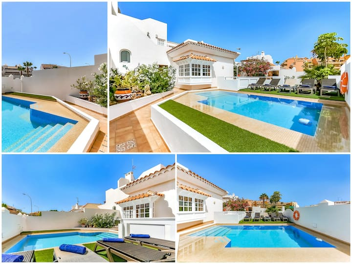 Homely 3 Bed Villa with pool & wifi in La Caleta