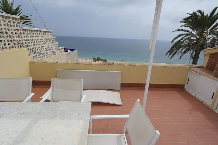 VD3 B Big old town penthouse with sea views - La Vila Joiosa - Дом
