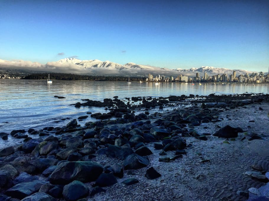 This is the Kits beach (10 min walk) during the winter