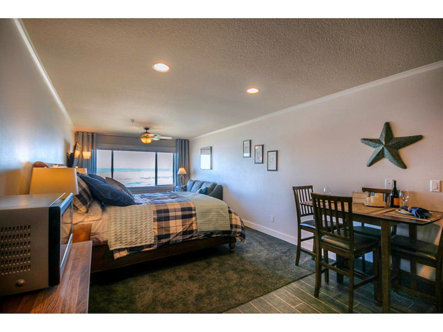 Queen Platform Bed and Dining