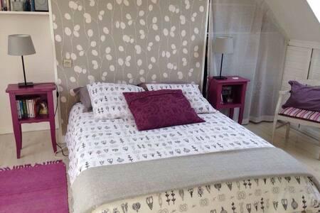 Chambres spacieuses dans maison avec jardin