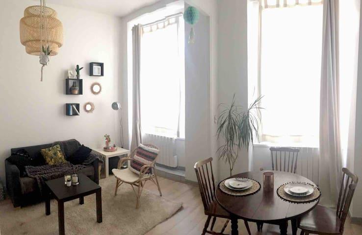 Appartement cosy à Lyon, station métro Valmy